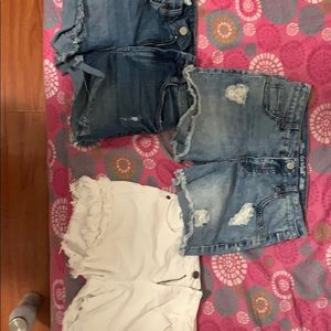 3 pairs of Jean shorts
